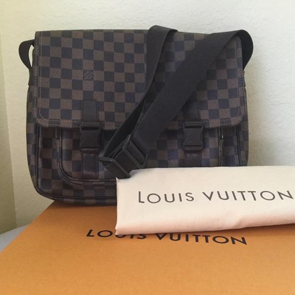 209b020aca LouisVuitton DamierEbene Sling Crossbody Bag Large